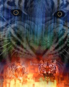 harimau berantai